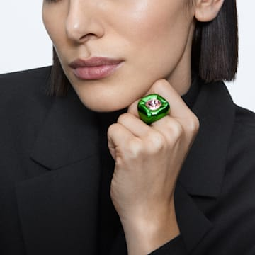 Dulcis cocktail ring, Green - Swarovski, 5609725