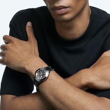 Octea Lux Sport 腕表, 金属手链, 黑色 PVD 电镀 - Swarovski, 5610472
