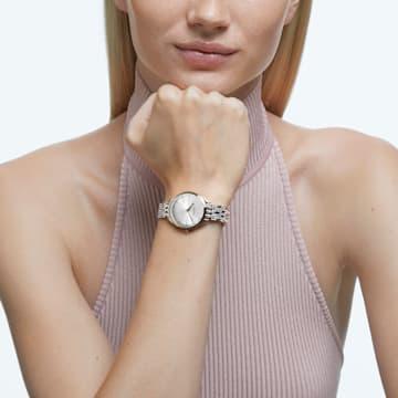 Attract 腕表, 金属手链, 白色, 金色调 PVD - Swarovski, 5610484