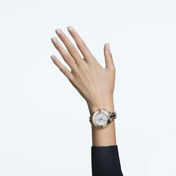 Orologio Octea Lux Sport, Bracciale di metallo, Bianco, PVD oro - Swarovski, 5610517