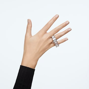 Anello Matrix, Bianco, Placcato rodio - Swarovski, 5610739