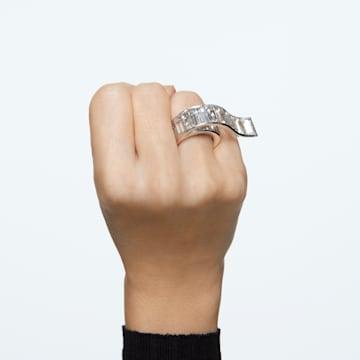 Matrix Ring, Weiss, Rhodiniert - Swarovski, 5610739