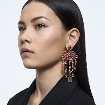 Gema 夹式耳环, 垂饰, 流光溢彩, 镀金色调 - Swarovski, 5610754