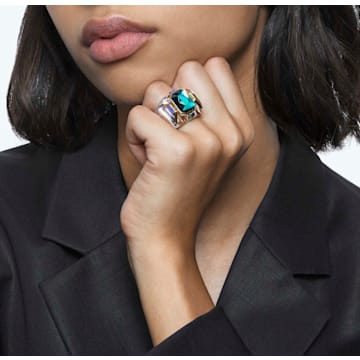 Chroma Cocktail Ring, Grün, Goldlegierungsschicht - Swarovski, 5610800