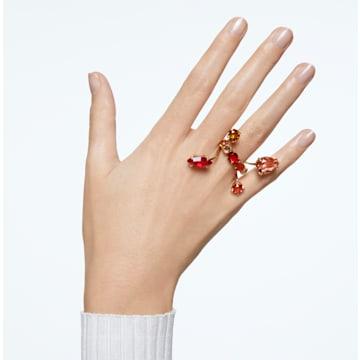 Gema ring, Multicolored, Gold-tone plated - Swarovski, 5610805