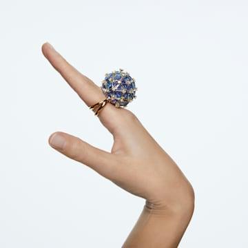 Curiosa Cocktail Ring, Kreis, Blau, Goldlegierung - Swarovski, 5610815