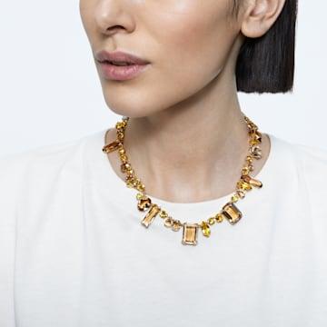 Colar Gema, Multicor, Lacado a dourado - Swarovski, 5610988
