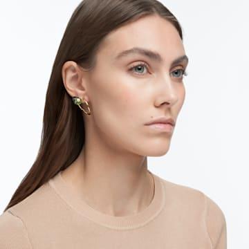 Numina earrings, Green, Gold-tone plated - Swarovski, 5613541