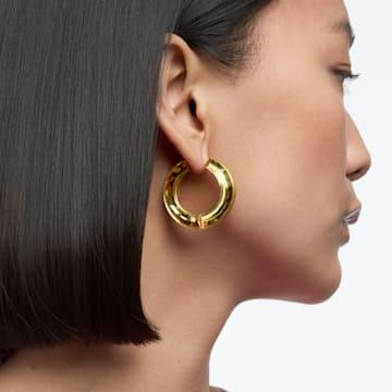 Lucent 大圈耳环, 黄色 - Swarovski, 5613548