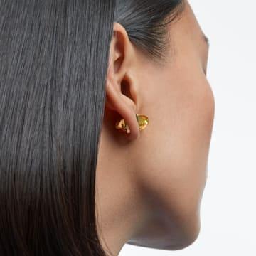 Lucent ear cuff, Single, Yellow, Gold-tone plated - Swarovski, 5613552