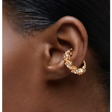Millenia 耳骨夹, 单个, 梨形切割 Swarovski 皓石, 黄色, 镀金色调 - Swarovski, 5613639