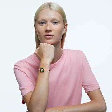 Dulcis 手链, 枕形切割仿水晶, 绿色 - Swarovski, 5613643