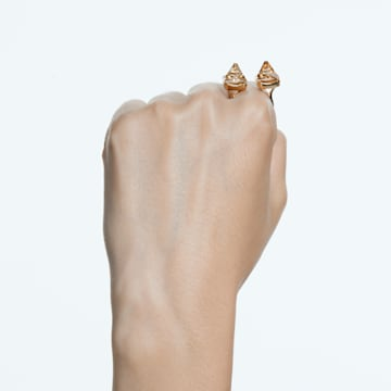 Chroma 戒指, 金字塔形切割仿水晶, 流光溢彩, 镀金色调 - Swarovski, 5613678