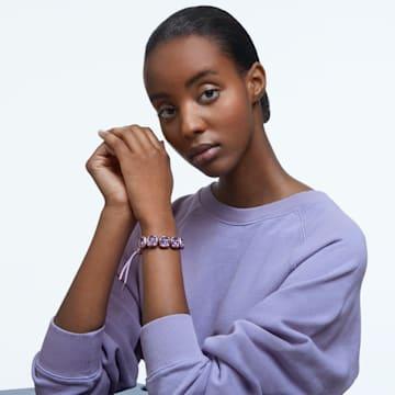 Dulcis bracelet, Cushion cut crystals, Purple - Swarovski, 5613731