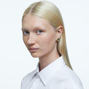 Gema stud earrings, Green, Gold-tone plated - Swarovski, 5614453