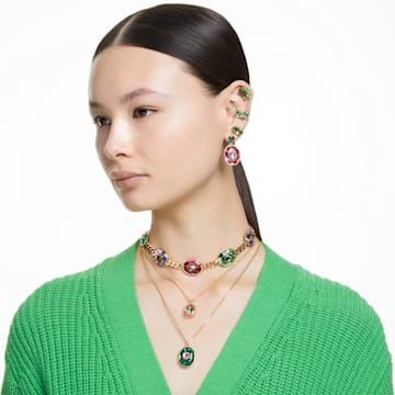 Gema 耳钉, 绿色, 镀金色调 - Swarovski, 5614453