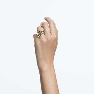 Millenia 个性戒指, 八角形切割仿水晶, 绿色, 镀金色调 - Swarovski, 5614923
