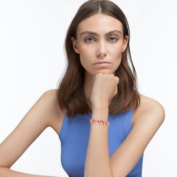 Millenia 手链, 三棱形切割仿水晶, 镀玫瑰金色调 - Swarovski, 5614934