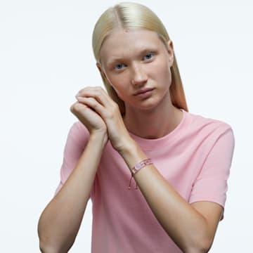 Letra bracelet, Heart, Pink, Gold-tone plated - Swarovski, 5615001