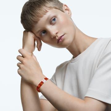 Letra 手链, Infinity, 橙色, 镀铑 - Swarovski, 5615002
