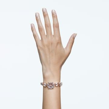 唐嫣同款心相莲七夕情人节系列粉红色仿水晶手链 - Swarovski, 5615188
