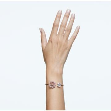 心相莲 手镯, 粉红色, 镀玫瑰金色调 - Swarovski, 5615192