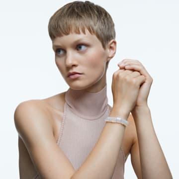 Letra Armband, Mond, Weiss, Goldlegierungsschicht - Swarovski, 5615863