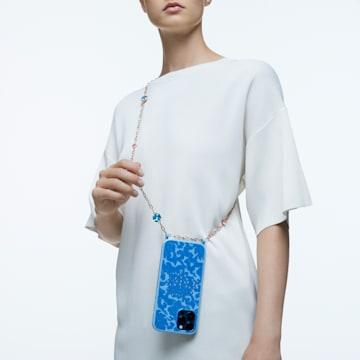 心相莲七夕情人节系列iPhone® 12 Pro Max蓝色手机壳 - Swarovski, 5615865