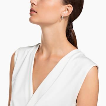 Sommerset Earrings, White, Rhodium plated - Swarovski, 5616262