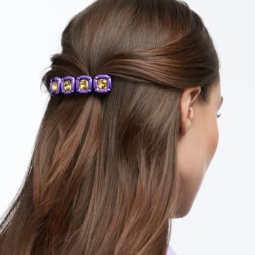 DLC002 hair clip, Cushion cut crystals, Purple, Gold-tone plated - Swarovski, 5617238