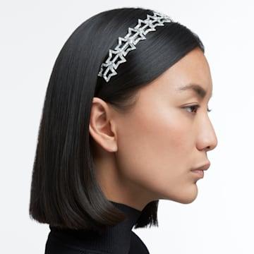 STA002 hairband, Star, White, Rhodium plated - Swarovski, 5617758