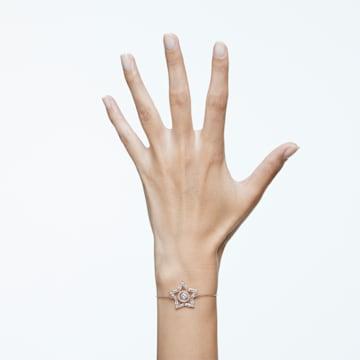 Stella bracelet, Star, White, Rose-gold tone plated - Swarovski, 5617882