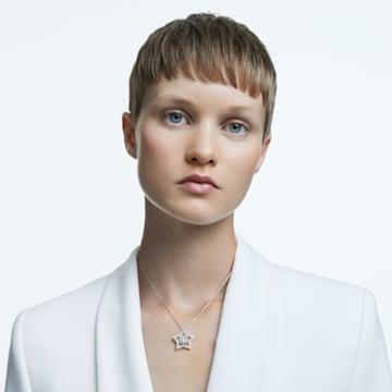 Stella 链坠, 白色, 镀铑 - Swarovski, 5617919