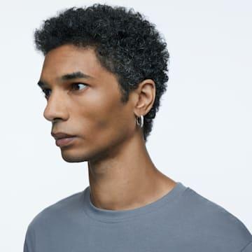 Dextera 大圈耳环, 八角形的, 小码 , 白色, 镀铑 - Swarovski, 5618307