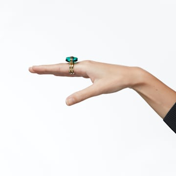 Lucent ring, Magnetic, Green, Gold-tone plated - Swarovski, 5620724