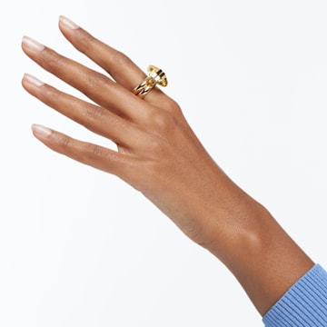 Lucent 戒指, 磁性, 黄色, 镀金色调 - Swarovski, 5621074