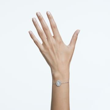 Signum 手链, 天鹅, 白色, 镀铑 - Swarovski, 5621099