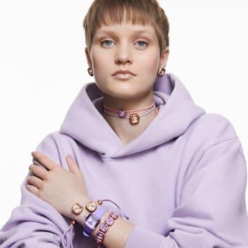 Dulcis 项链, 枕形切割仿水晶, 紫色 - Swarovski, 5622377