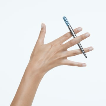 LCT002 ballpoint pen, Blue, Chrome plated - Swarovski, 5623052