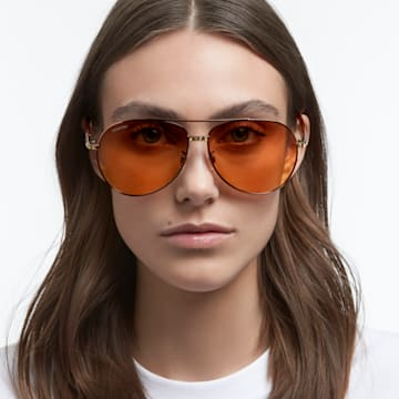 MIL002 sunglasses, Pilot, Gradient tint, Brown - Swarovski, 5625294