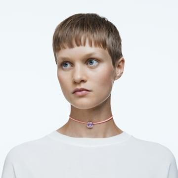 Dulcis 项链, 枕形切割仿水晶, 粉红色 - Swarovski, 5626400