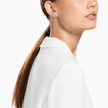Magic Pierced Earrings, White, Rhodium plated - Swarovski, 5627347