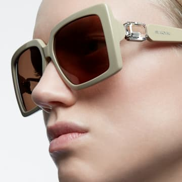 MIL002 sunglasses, Square, Brown - Swarovski, 5627870