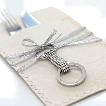 Porte-clés Alice, blanc, acier inoxydable - Swarovski, 860475