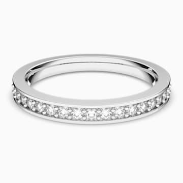 Prsten Rare, bílý, rhodiovaný - Swarovski, 1121067