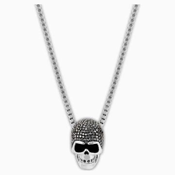 Colgante Taddeo Skull, negro, Combinación de acabados metálicos - Swarovski, 1180839