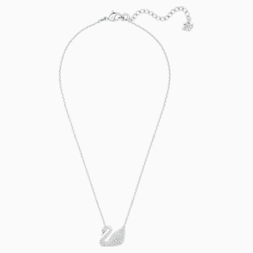 Collier Swan, blanc, Métal rhodié - Swarovski, 5007735