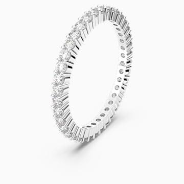 Vittore 戒指, 白色, 鍍白金色 - Swarovski, 5007781
