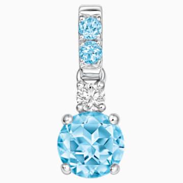虹之彩18K金粉蓝托帕石钻石链坠 - Swarovski, 5009827