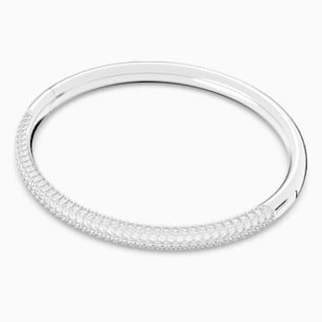 Bracciale rigido Stone, bianco, acciaio inossidabile - Swarovski, 5032845